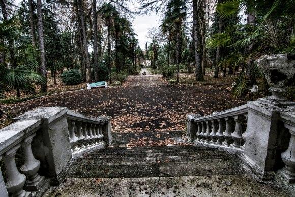 Vaizdas nuo laiptų