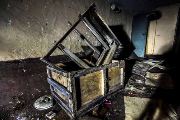 Slėptuvė Dzūkų gatvėje - suverstos dėžės