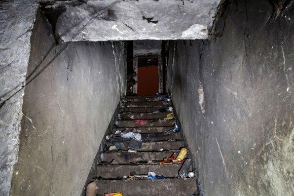 Slėptuvė Šaltinių gatvėje - laiptai