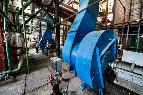 Apleista katilinė - ventiliatoriai