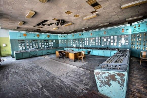 Apleista katilinė - valdymo patalpa