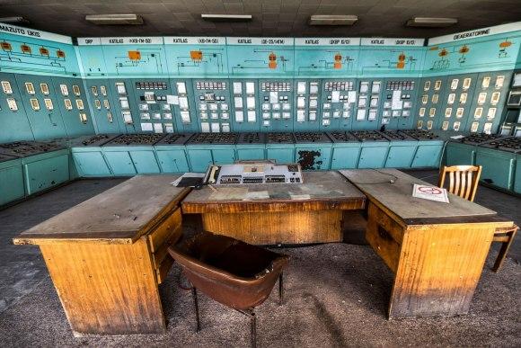 Apleista katilinė - operatoriaus stalas