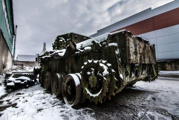 Apleistas tankas Vilniuje