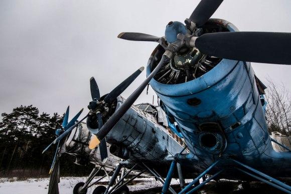 Apleisti lėktuvai - sraigtai