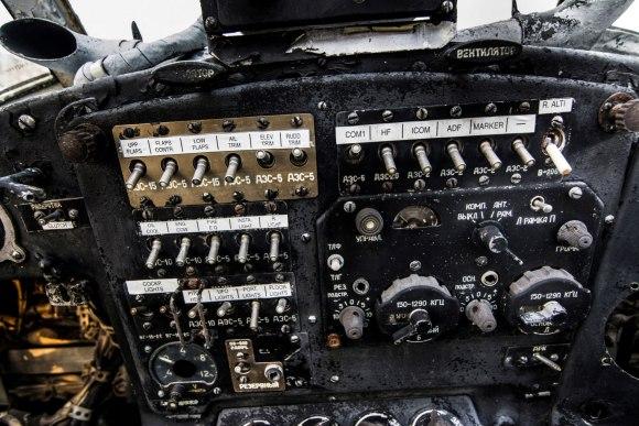 Apleistas lėktuvas - įranga