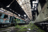 Apleisti traukiniai Budapešte