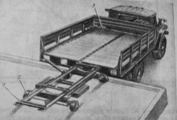 Sunkvežimis prie rampos
