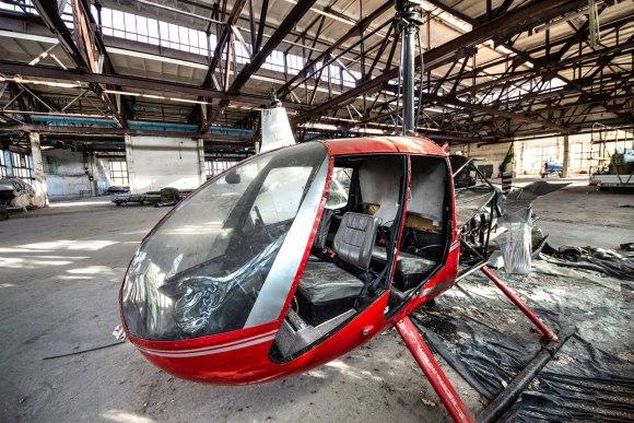 Išardytas sraigtasparnis
