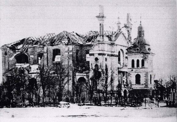 Tvirtovės soboras po apšaudymo, 1915-1916 metai