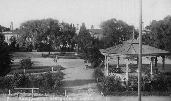 Pagrindinė aikštė ir fontanas, 1912 metai