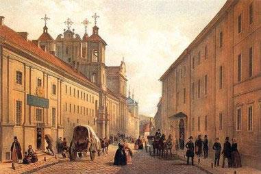 Domininkonų gatvė 1850 metais