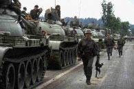 Jugoslavijos kariuomenės kolona, 1991