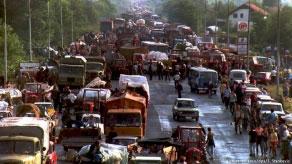"""Serbų pabėgėliai po operacijos """"Audra"""", 1995"""
