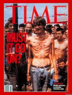 """""""Time"""" viršelis - kaliniai serbų koncentracijos stovykloje"""
