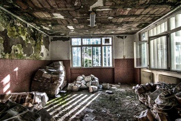 Apleista ligoninė - patalpos
