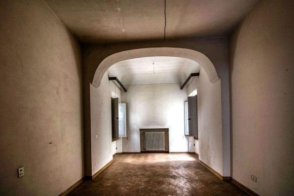 Viešbučio dalies koridorius