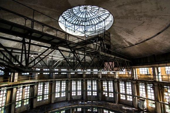 Oculus Tower - konstrukcijos viršuje