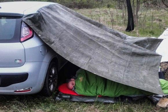 Miegojimas su tentu