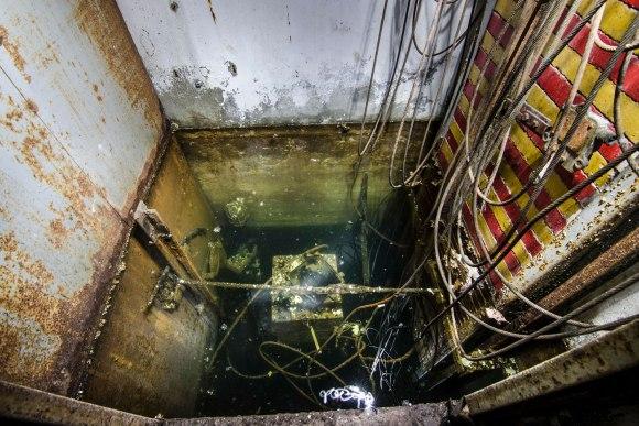Užsemta lifto šachta