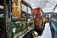 Apleisti sovietiniai autobusai