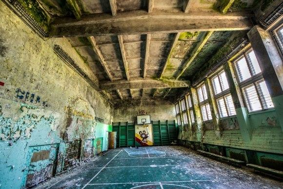 Apleista sporto salė