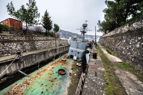 Paskendęs laivas Albanijoje