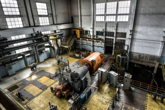 Turbogeneratorių salė
