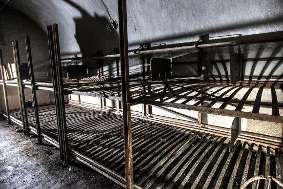 Mažino linija - kareivių gultai