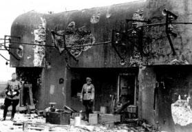Vokiečių kareivis prie Mažino linijos forto