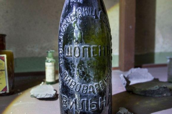 Šopeno alaus daryklos butelis