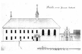 Šiaurės vakarų pastato fasadas, 1834 metai