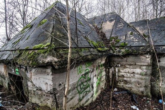 Betoninis siurblinės pastatas