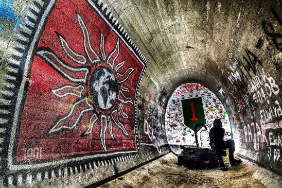 Regenwurmlager - graffiti