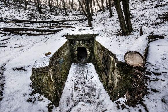 Regenwurmlater - įėjimas į drenažą