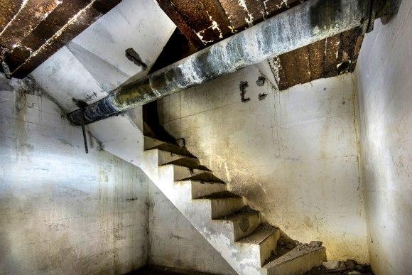 Regenwurmlager - laiptai į antrą aukštą