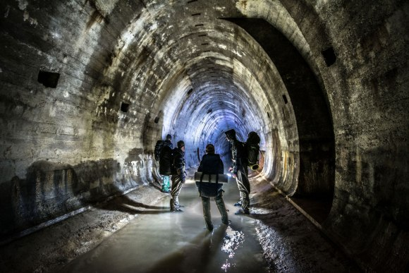 Regenwurmlager - kompanija tunelyje