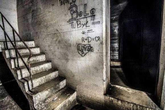 Regenwurmlager - laiptai į viršų