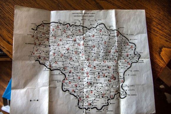 Lietuvos TSR kelių žemėlapis