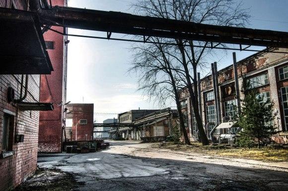 Sena gamyklos dalis