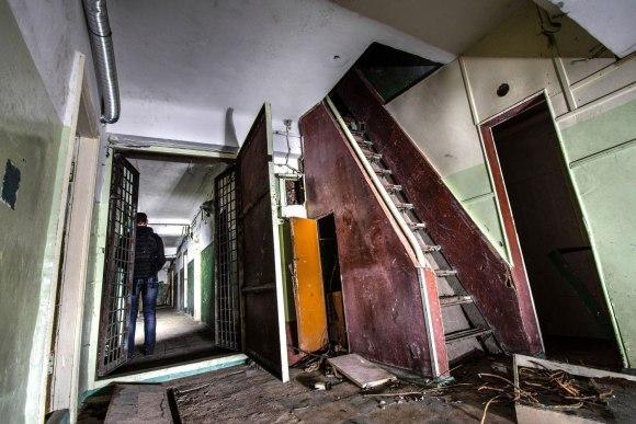 Laiptai į antrą bunkerio aukštą