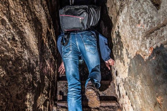 Laiptai prie šachtos