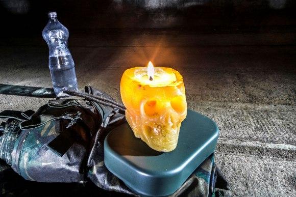 Regenwurmlager - kalėdinė žvakė