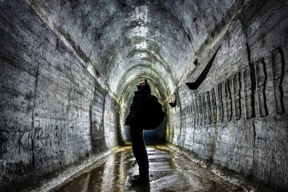 Regenwurmlager - užpiltas tunelis