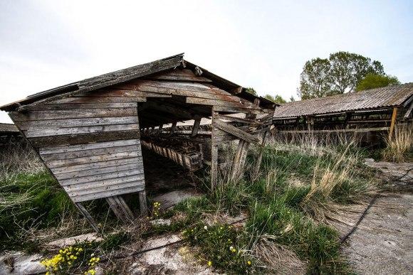Pakrypę mediniai nameliai