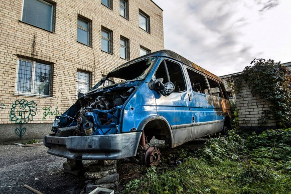 Sudegęs autobusiukas