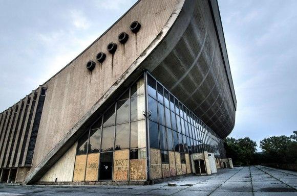 Koncertų ir sporto rūmai - fasadas