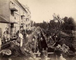 Kanalizacijos statyba Vrublevskio gatvėje