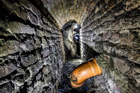 Senamiesčio kolektorius - tunelio išplatėjimas